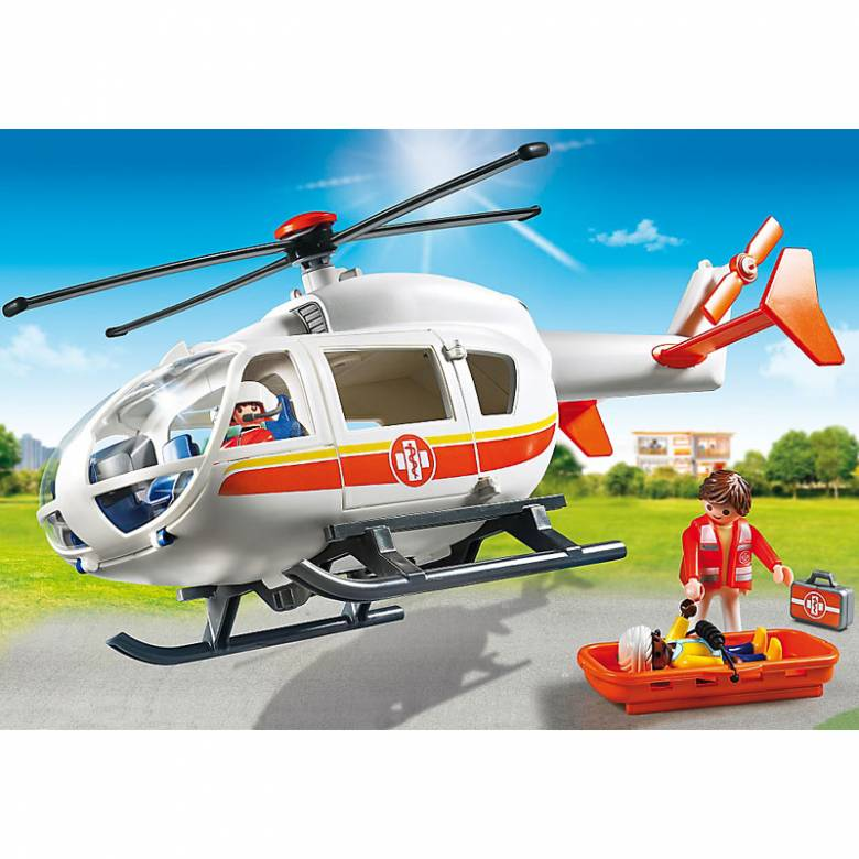 Emergency Medical Helicopter City Life Playmobil 6686