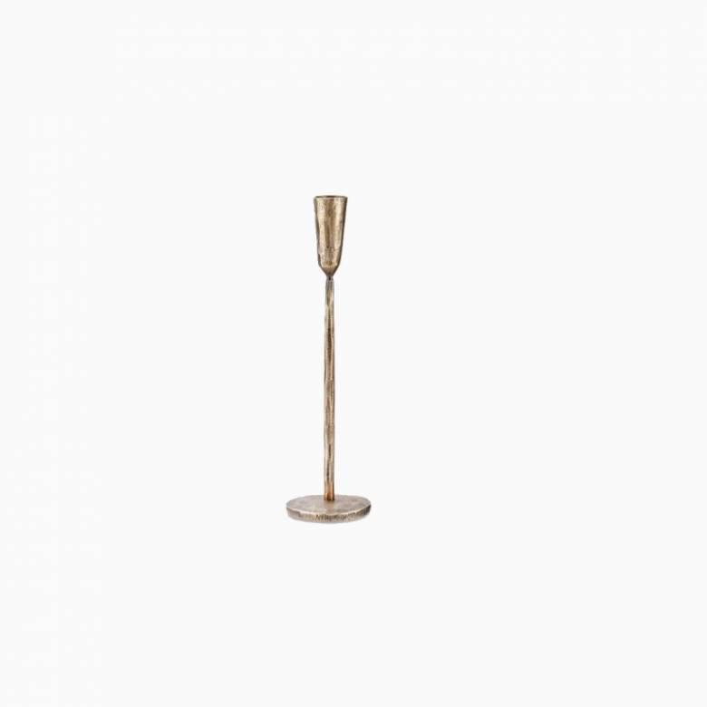 Medium Antiqued Brass Candlestick H:30cm