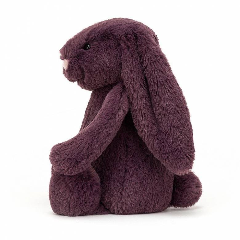 Medium Bashful Bunny In Plum Soft Toy By Jellycat