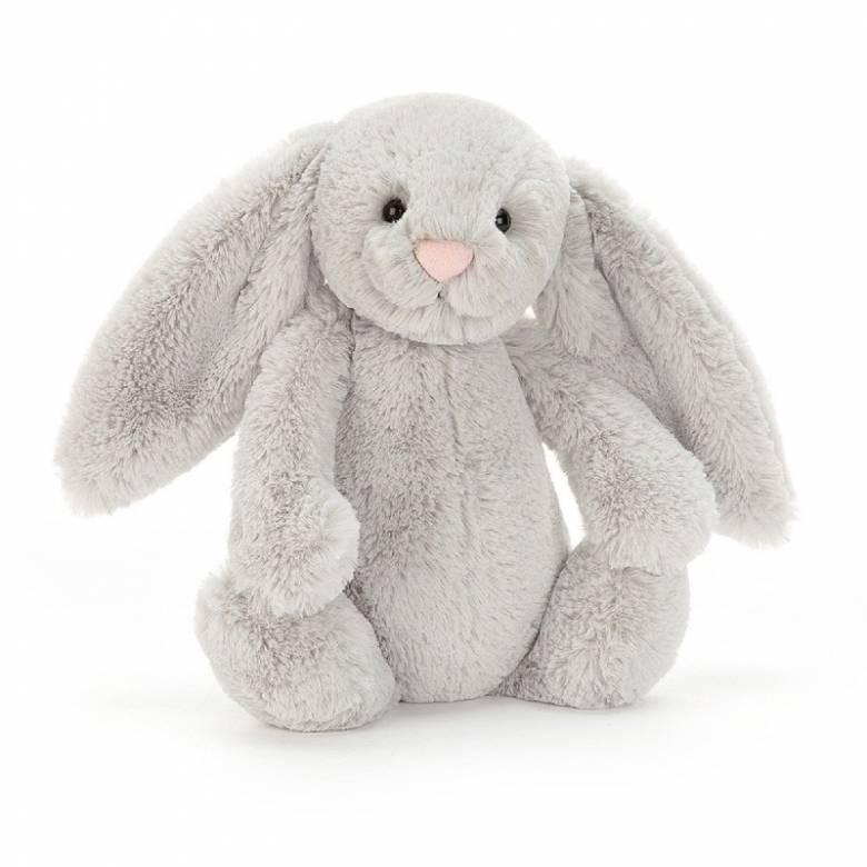 Medium Bashful Bunny In Silver Soft Toy By Jellycat