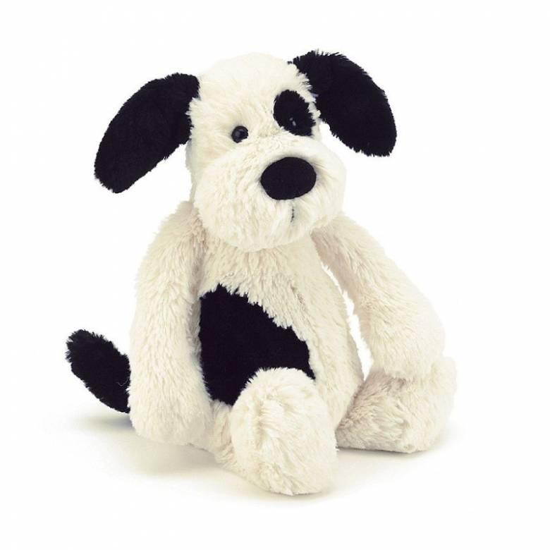 Medium Black & Cream Bashful Puppy By Jellycat