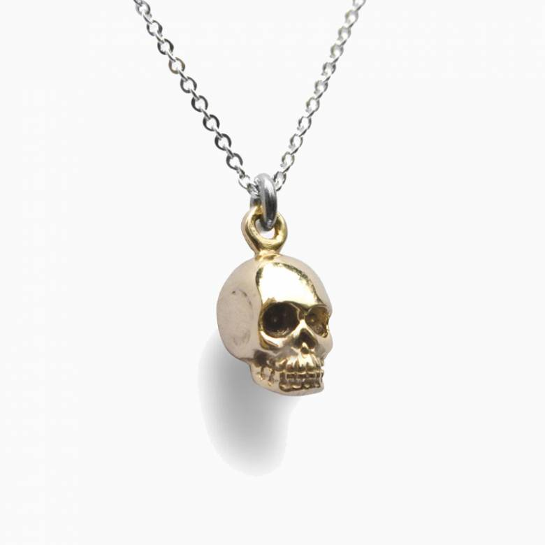 Gold Skull Memento Mori Necklace