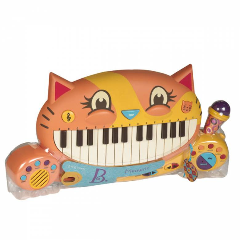 Meowsic - Cat Shaped Keyboard By B. Toys 2+