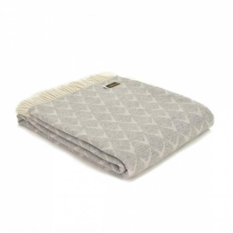 Merino Wool Coastal Nebo Grey Blanket 140x180cm