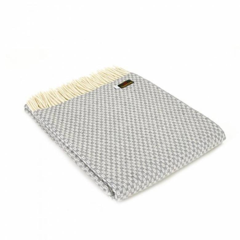 Merino Wool Willow Grey Blanket 140x180cm