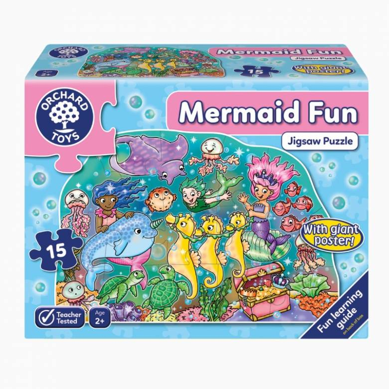 Mermaid Fun Jigsaw Puzzle 15 Piece By Orchard Toys 2+