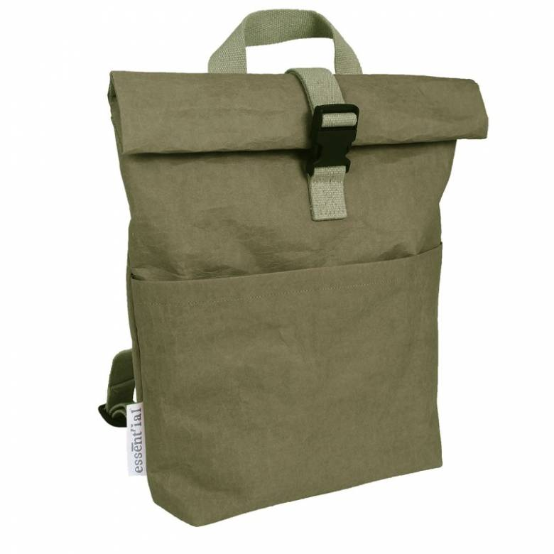 Messenger Office Paper Backback In Dark Green