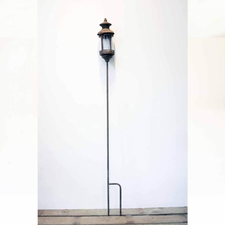 Metal Garden Lantern On Stake