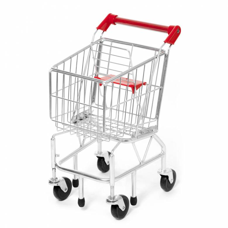 Metal Shopping Trolley For Kids Play 3+