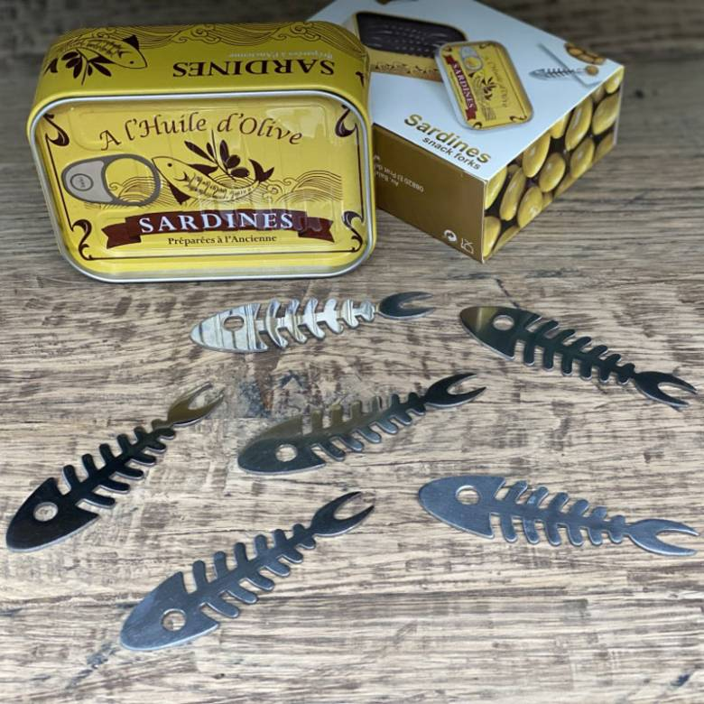 Fish Shaped Tapas Picks In Tin