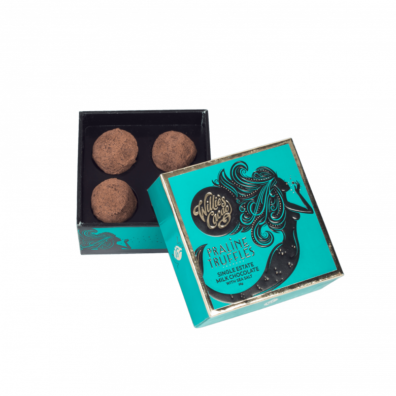 Willie's Cacao Praline Truffles Milk Chocolate With Sea Salt 35g