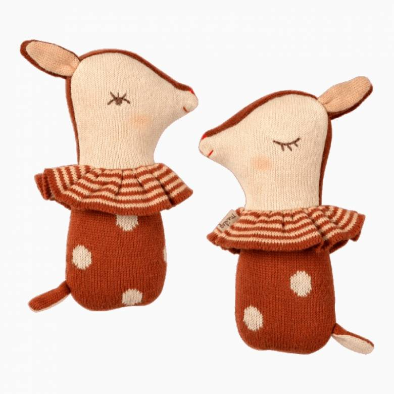Mini Bambi Rattle In Rusty Red By Maileg 0+