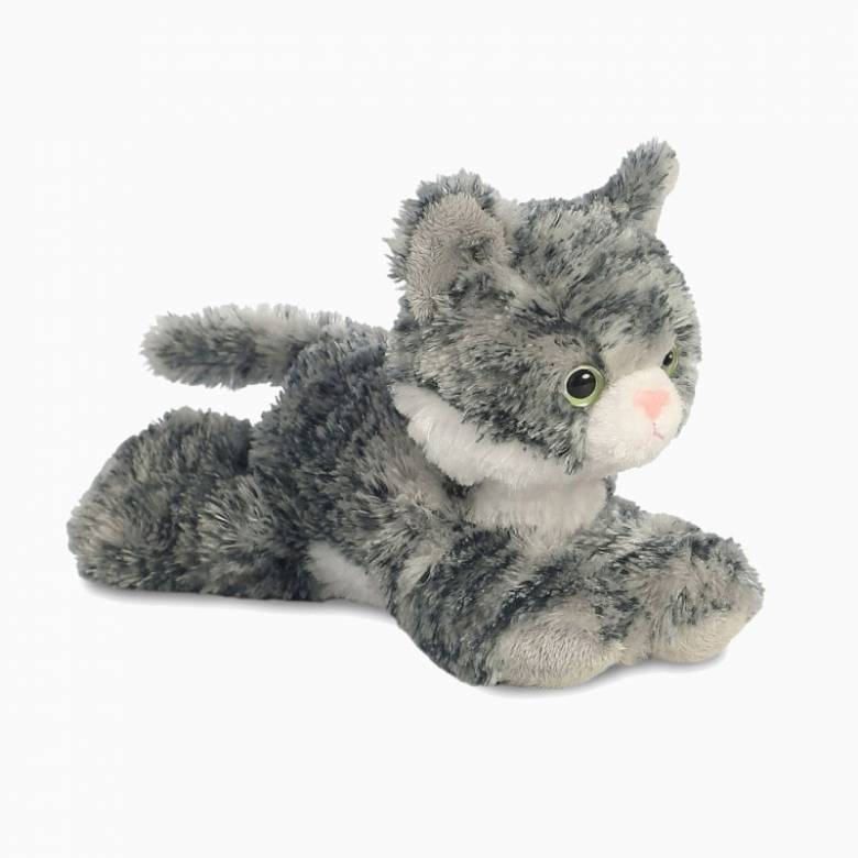Mini Flopsie Grey Lily Cat Soft Toy 0+