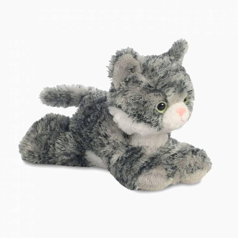 Mini Flopsie Grey Lily Cat Soft Toy 0+