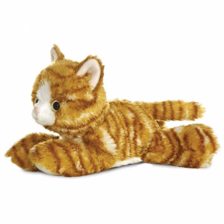 Mini Ginger Cat Flopsie Soft Toy 0+