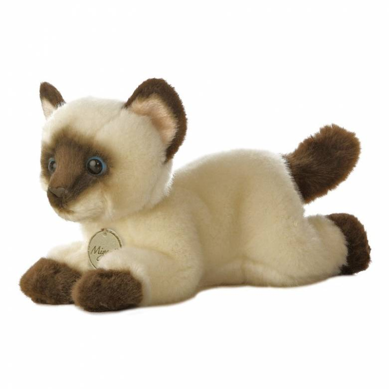 Mini Siamese Cat Soft Toy 0+
