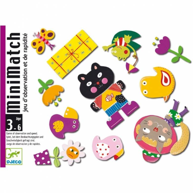 MiniMatch Card Game By Djeco 3+