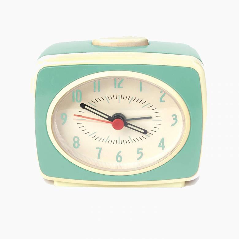 Mint Retro Alarm Clock