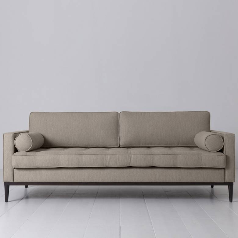 Swyft - Model 02 Linen 3 Seater Sofa - Pumice