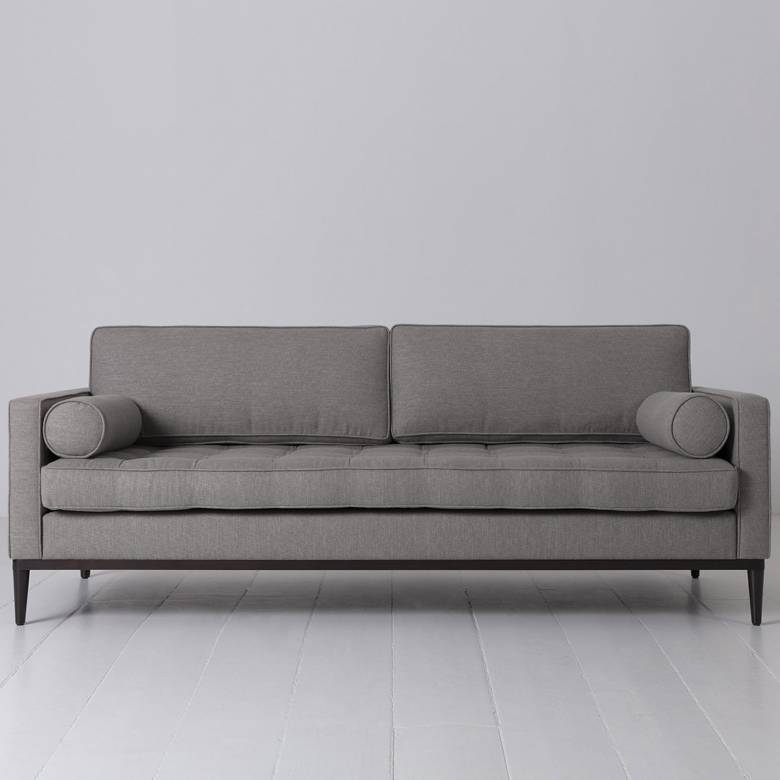 Swyft - Model 02 Linen 3 Seater Sofa - Shadow