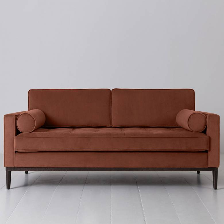 Swyft - Model 02 Velvet 2 Seater Sofa - Brick