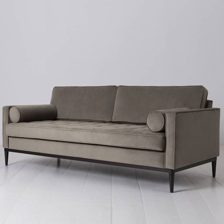 Swyft - Model 02 Velvet 3 Seater Sofa - Elephant