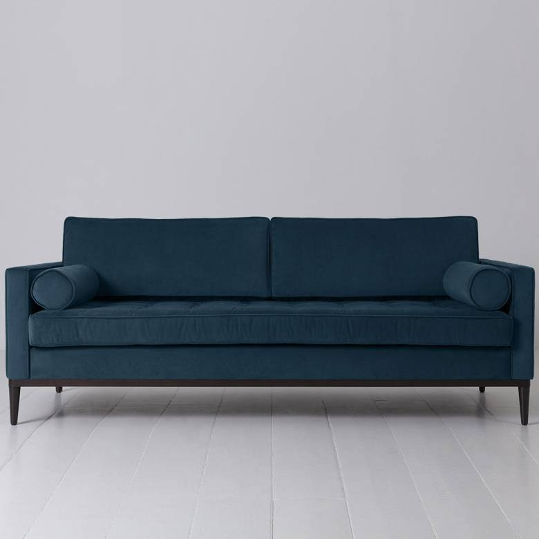 Swyft - Model 02 Velvet 3 Seater Sofa - Teal