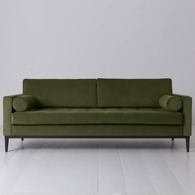 Swyft - Model 02 Velvet 3 Seater Sofa - Vine