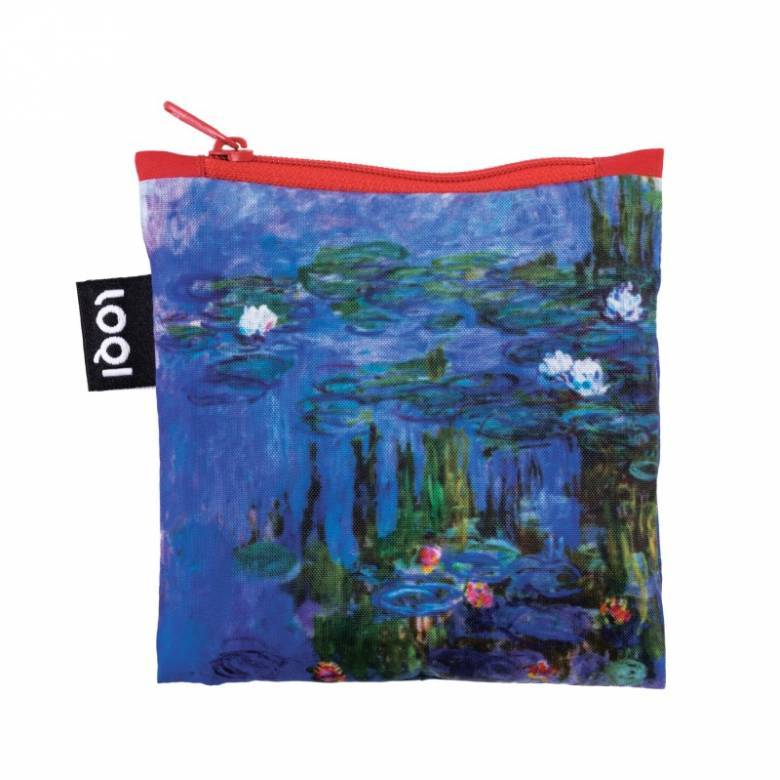 Monet Water Lillies - Reusable Tote Bag With Pouch