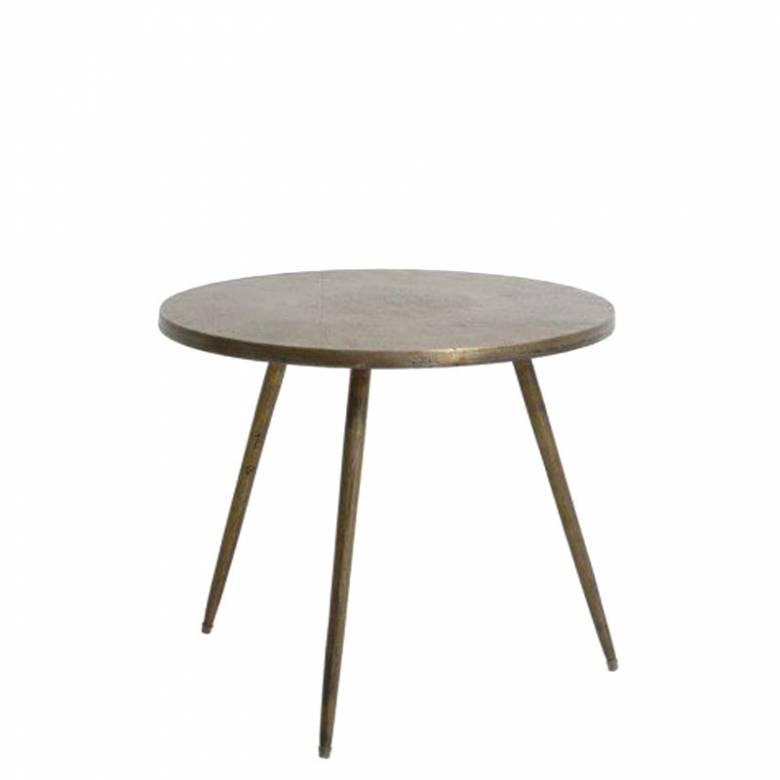 Jasmon Round Side Table In Antique Bronze