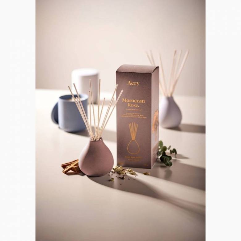Moroccan Rose - Reed Diffuser In Clay Pot By Aery