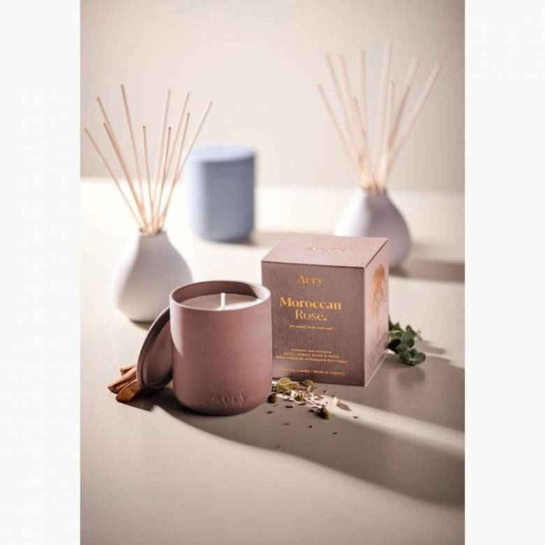 Moroccan Rose - Scented Candle In Clay Pot By Aery