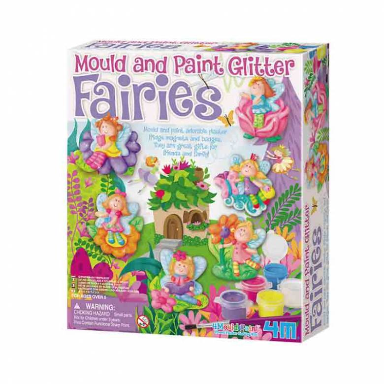Mould & Paint Glitter Fairies Art Kit 5+