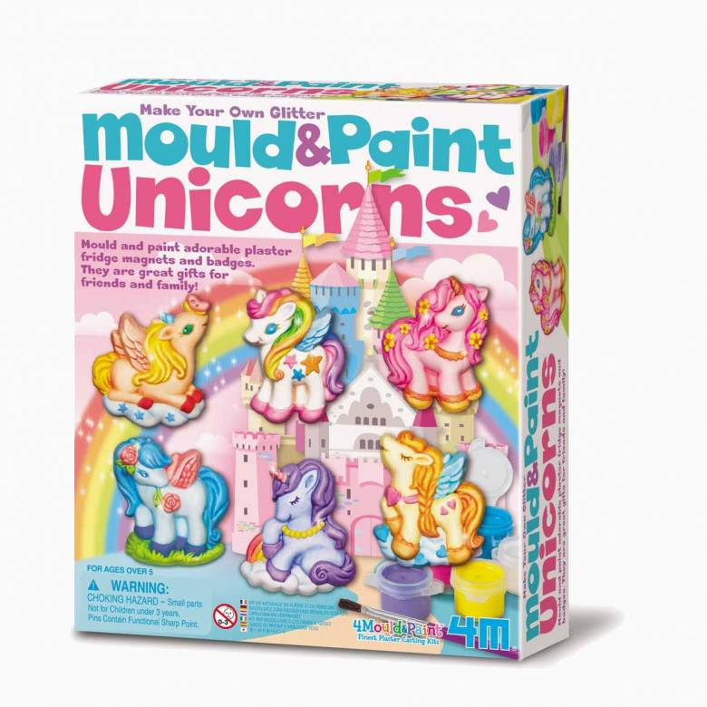 Mould And Paint Unicorns Art Kit 5+