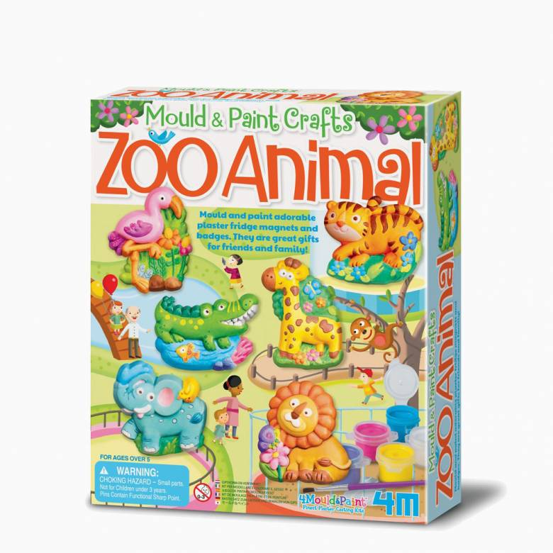 Mould And Paint - Zoo Animals Craft Kit 5+
