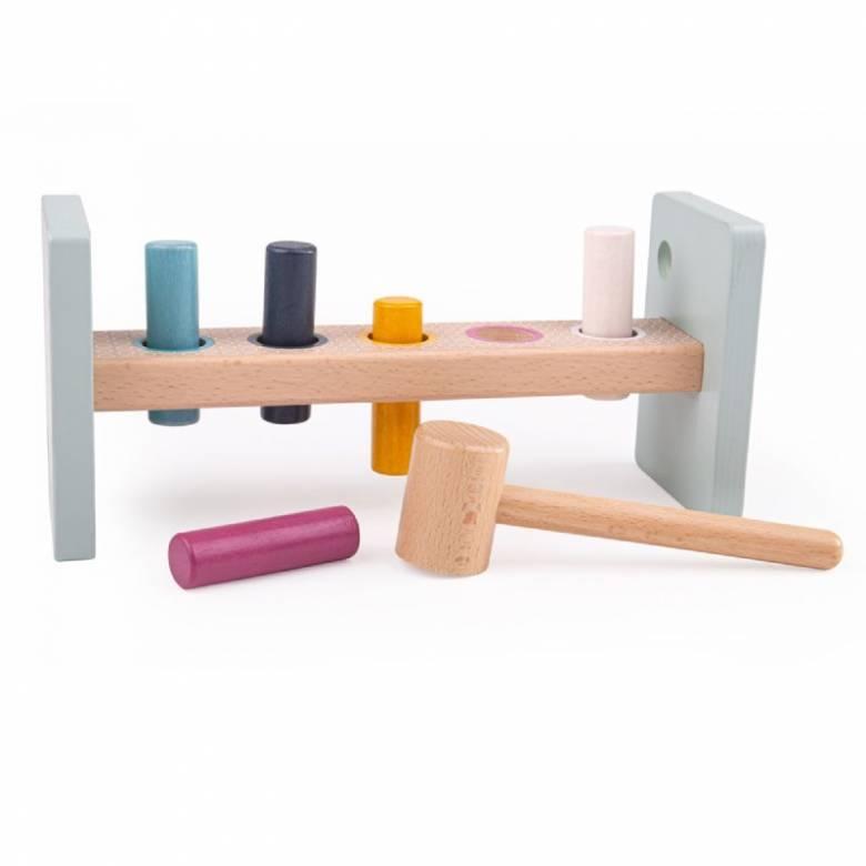 Multi Coloured FSC Certified Wooden Hammer Bench