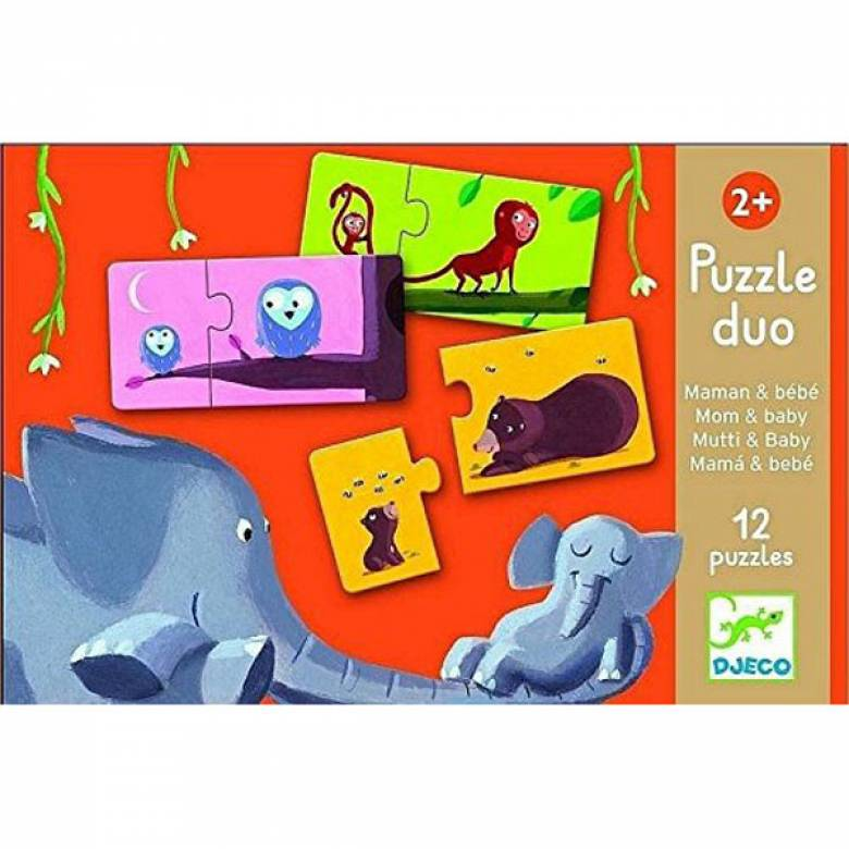 Mum & Baby - Puzzle Duo By Djeco 2+