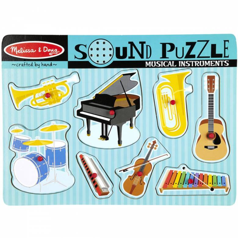 Musical Instruments Sound Puzzle 2+