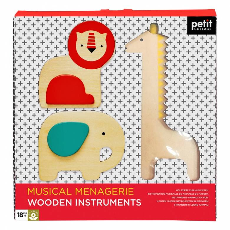Musical Menagerie Wooden Instruments By Petit Collage 18m+