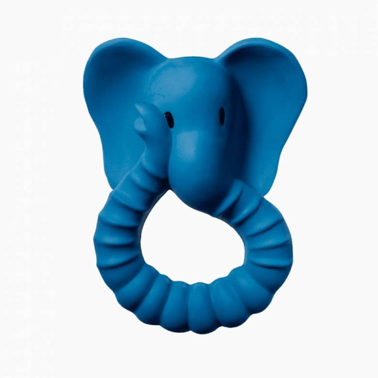 Natural Rubber Blue Elephant Teether Toy