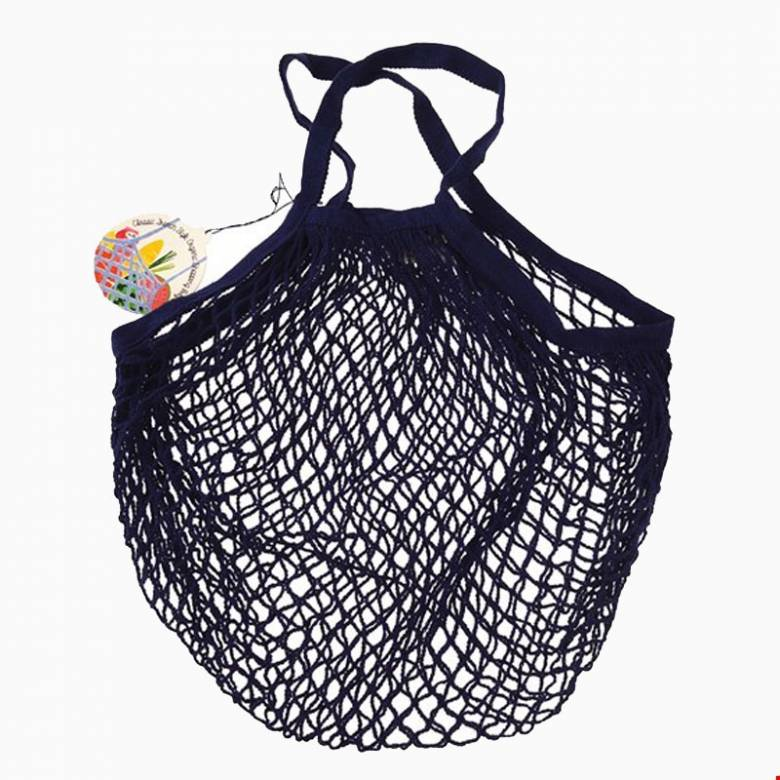 Navy Blue String Shopping Bag