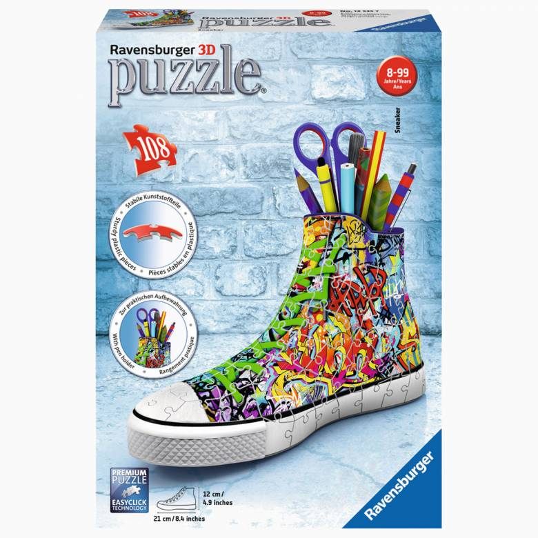 Graffiti Sneaker 3D Puzzle 108 Pieces 8+
