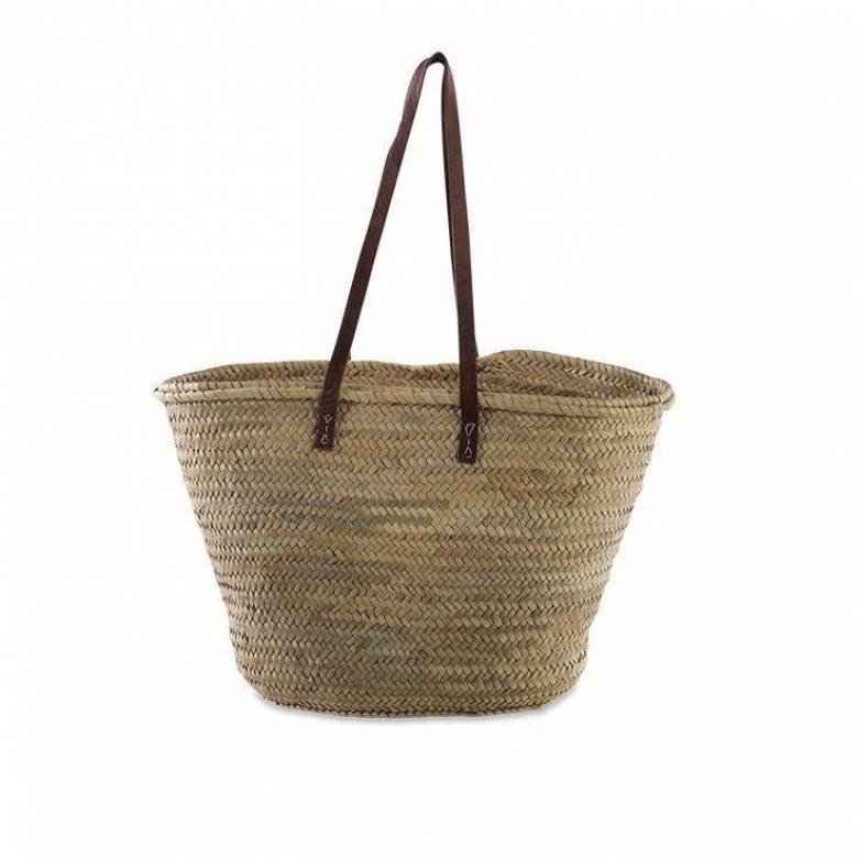 French Style Market Shopping Basket With Long Handles