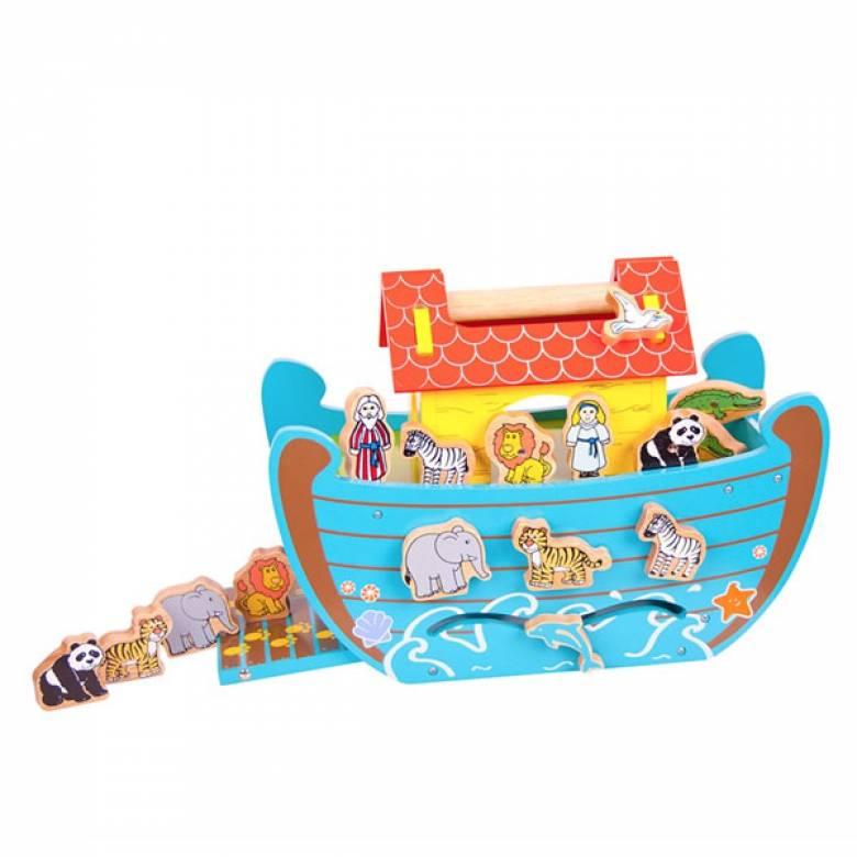 Wooden Noahs Ark With Shape Sorter Sides