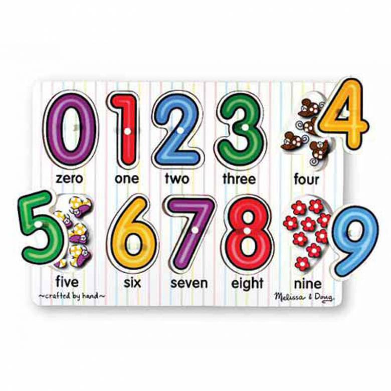 See-Inside Numbers Peg Puzzle 2+