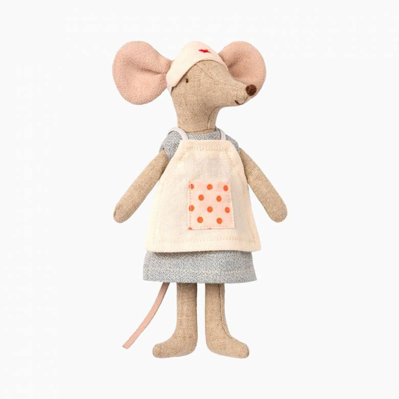 Mouse Nurse Soft Toy By Maileg