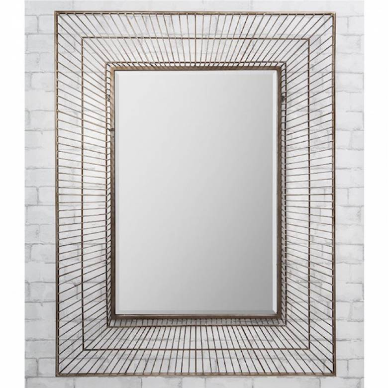 Olden Large Rectangular Wire Frame Mirror