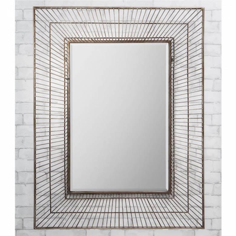 Olden Large Rectangular Wire Frame Mirror