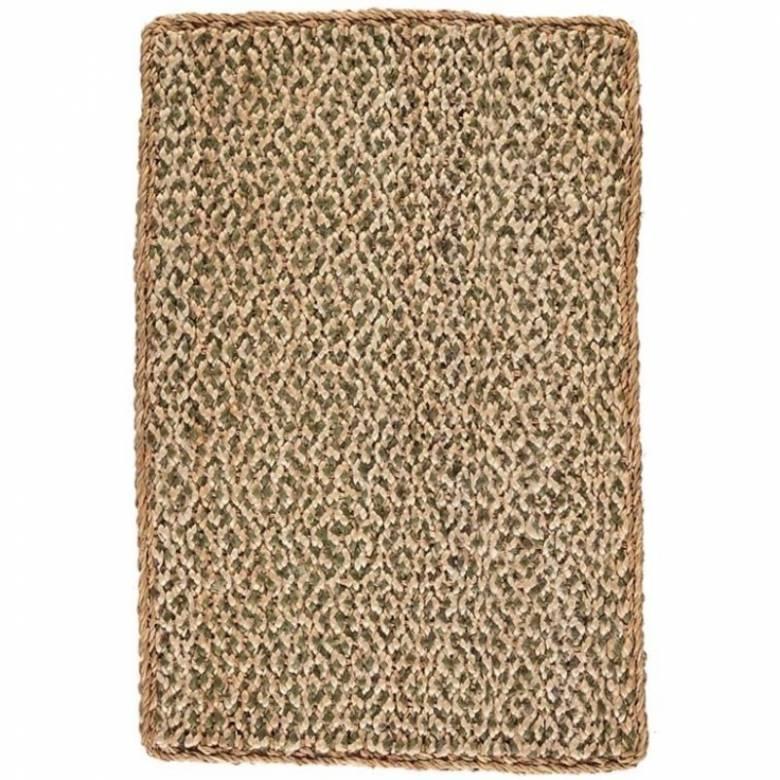 Olive Green Jute Doormat