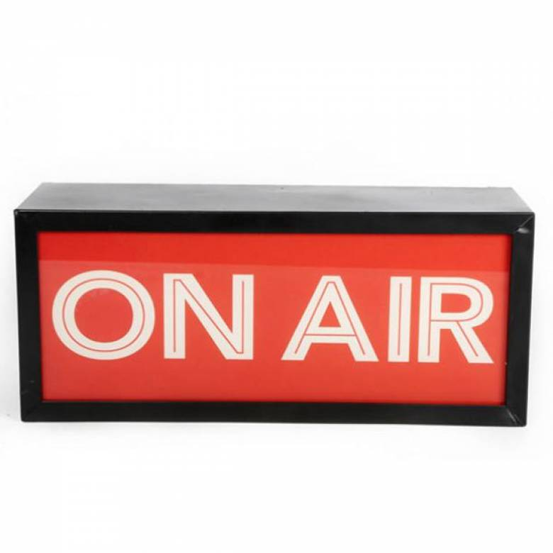 On Air Illuminated Sign Wall Mount Box Sign